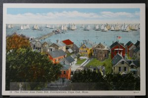 Provincetown, Cape Cod, MA - The Harbor from Town Hill