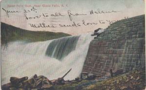 SPIER FALLS DAM near GLENS FALLS, NY - Flag cancel from RUTLAND, VT 1907