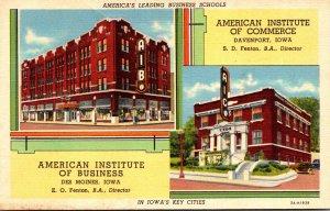 Iowa Davenport American Institute Of Commerce & American Institute Of Busines...