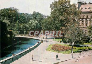 Postcard Modern Fragment Miasta Bielsko-Biala