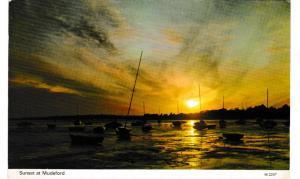 Post Card Dorset MUDEFORD Sunset at Dennis Productions M.2207
