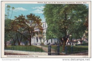 Stanton Hall One Of The Ante Bellum Residences Natchez Mississippi 1917