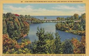 New York Rochester View From Zoo Showing Bath House And Lake Ontario