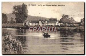 Old Postcard Vichy pigeon shooting at the edge of & # 39Allier