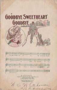 Song Card Goodbye Sweetheart Goodbye 1908
