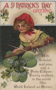 SAINT-PATRICK'S DAY ; Girl & Shamrock , 00-10s