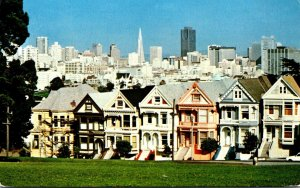 California San Francisco Victorian Buildings 1986