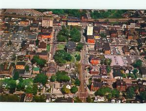 Vintage Post Card Aerial Downtown Business Lorin Cty Cour View Elyria  OH # 4019