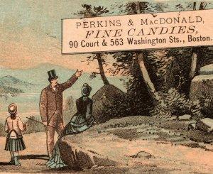1870's Perkins And MacDonald Fine Candies Boston MA Bufford Victorian Trade Card