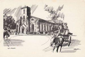NIAGARA ON THE LAKE, Ontario, Canada, 1900-1910's; St. Mark's Anglican Church...