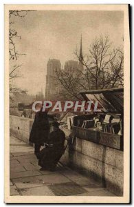 Old Postcard Bookstall Paris and Notre Dame