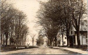 Thetford Vermont~Main Street~Homes~Clock Tower Building~Dirt Road~1916 RPPC