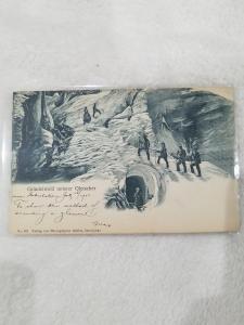 Antique Postcard entitled Grindewald unterer Gletscher  Dated 1900.