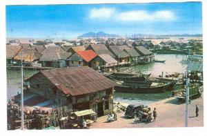Atap houses at Kampong Ayer , Penang , 40-60s