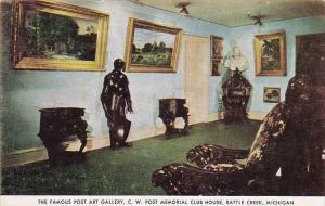 The Famous Post Art Gallery C W Post Memorial Club House Battle Creek Michigan