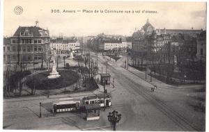 Anvers - Place de la Commune vue a vol d'oiseau