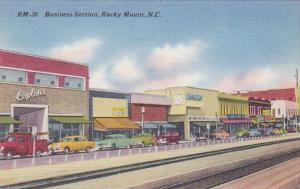 North Carolina Rocky Mount Main Street Business Section