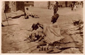 Ghana Gold Coast Natives A Hausa Doctor real photo Postcard