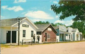 Wichita Kansas~Cow Town~Bank~Swap Shop~Sim Park Drive~1960s Postcard
