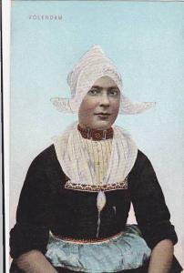 Lady Wearing A Typical Costume, Volendam (North Holland), Netherlands, 1900-1...