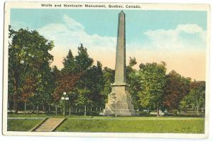 Wolfe and Montcalm Monument, Quebec, Canada, 1910s-20s unused Postcard