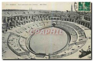 Old Postcard Nimes Inside view of Arenes