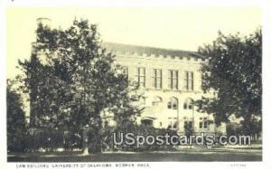 Law Building, University of Oklahoma Norman OK Unused
