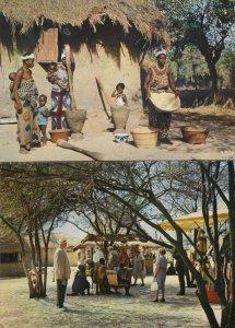 West Africa Native Village for Tourists Dakar 2x Postcard