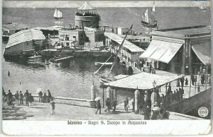 73450  - CARTOLINA d'Epoca: LIVORNO Città -   BAGNI AQUAVIVA  1917