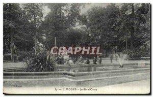 Old Postcard Limoges Jardin d'Orsay