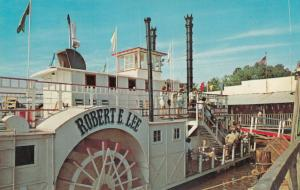 DAVIDSON, North Carolina, 1960s; Riverboat Robert E. Lee on Lake Norman