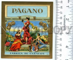 500122 PAGANO Vintage embossed cigar box label