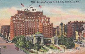 MINNEAPOLIS, Minnesota, 1930-40s; Gateway Park and Nicollet Hotel