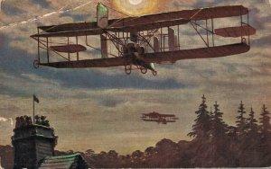 Aviation Nachtfahrt des englischen Militär Flugapparats 05.59