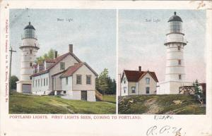 Portland Lighthouses First Lights Seen Coming To Portland Maine 1904 Private ...