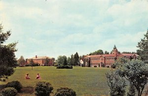Cambridge Springs PA~Alliance College Campus~Washington Hall~Co-Eds on Lawn~1960