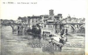 Roma, Italy, Italia Isola Tiberina con I Due Ponti  Isola Tiberina con I Due ...