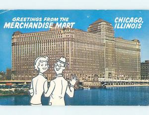 Pre-1980 GREETINGS FROM POSTCARD Chicago Illinois IL ho5666