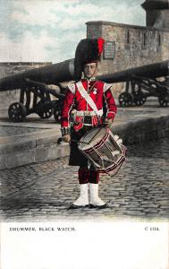 Drummer, Black Watch, Scotland, Great Britain, Early Postcard, Unused