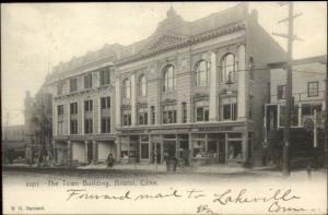 Bristol CT Town Bldg c1905 Used Postcard - Stores etc
