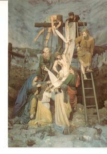 Postal 036425 : Bom Jesus - Braga (Portugal). Desciimento da Cruz