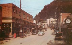Juneau Alaska~Franklin Street~George Bros~Warfield Drug Store~NICE 1950s Cars