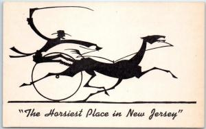 Freehold, New Jersey Postcard AMERICAN HOTEL & RESTAURANT Horsiest Place in NJ