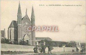 Postcard Sainte Adresse Old Chapel N D Waves