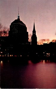 Massachusetts Boston Twilight From Public Garden