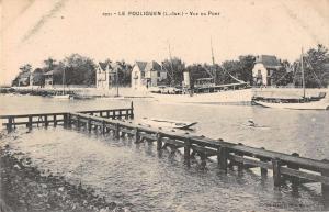 Le Pouliguen France Vue du Port Antique Postcard J38643