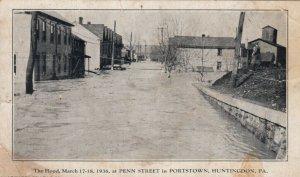 HUNTINGDON , Pennsylvania , 1936 ; Flood at Penn Street