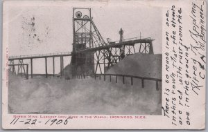 Ironwood, Mich., Norrie Mine, Largest Iron Mine in the World-1905