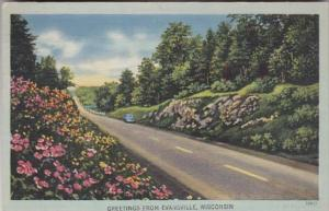 Wisconsin Greetings From Evansville 1947