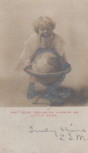 RP: Girl & World Globe , 1906